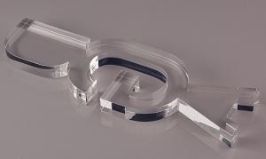 Laserskåret 20 mm klar acryl - ekstruderet akryl